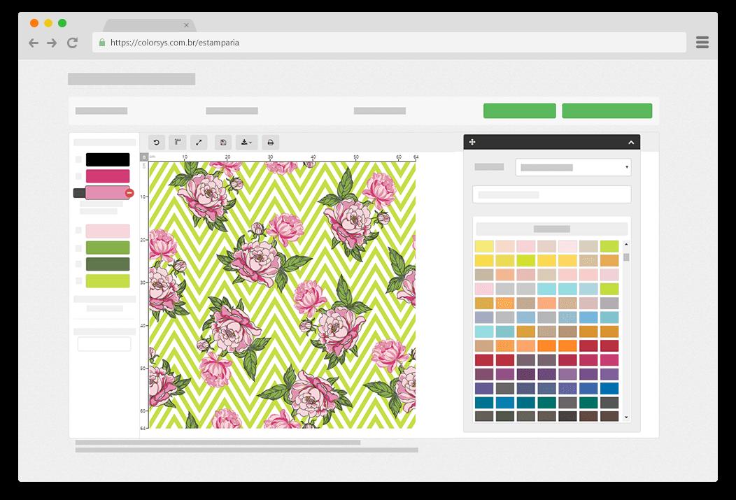 Personalize a estampa com diversas combinações de cores.